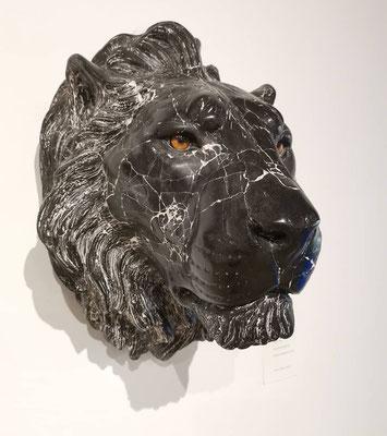 Chris Tap, lion, marble composite