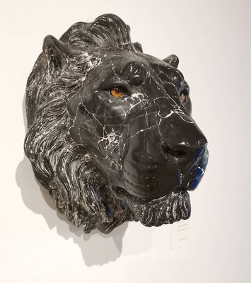Chris Tap, lion, marble composite
