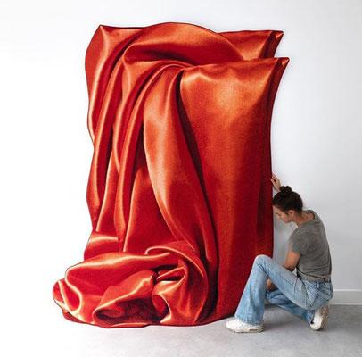 Celia Hadeler, Art Rugs, Orange Orange, 200 x 260 cm