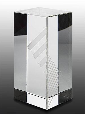 Ming Hou Chen, optical glass, unique piece, 24x12x12 cm