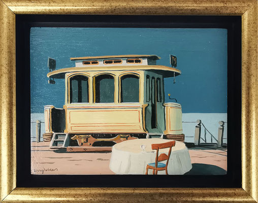 Joop Polder The Trailer 9x12 cm. SOLD