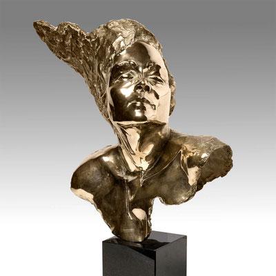 Godfried Dols, bronze, Maschera de Belezza, 45x40x25 cm. EUR 8,500