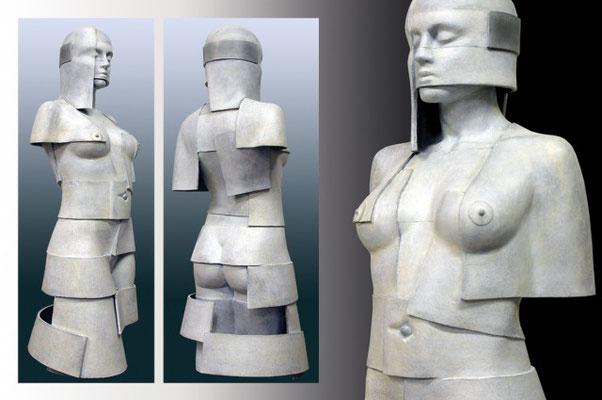 Ton Voortman La grande Horizontale Aluminum Edition: 5 Height 115 cm