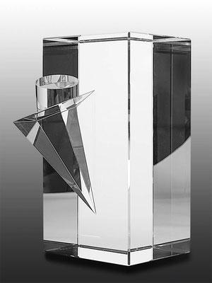 Ming Hou Chen,optical glass,  unique piece, 24x18x12 cm