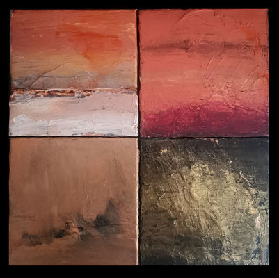 acryl on 4 canvases of 20x20 cm
