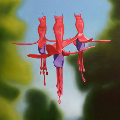 Fuchsia, 90x90 cm. M