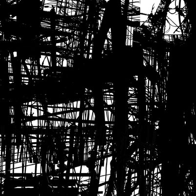 Wing Chan, Urban-Graphis 074, Wires Bangkok, Thailand Image size: 100 x 100 cm (can be adjusted to smaller sizes) 2018 Edition of 8 Photomontage Archival pigment print