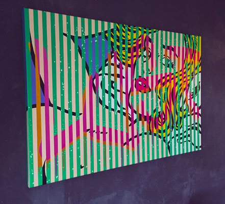 Kevin Langedijk | Lust | Mixed Media on canvas |  120x80 cm | Price on request
