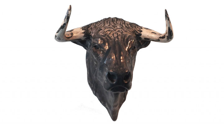 Bull Head, 40 cm, marble composite. Price on request