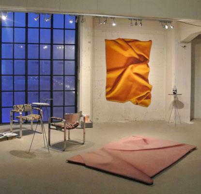 Celia Hadeler Rugs Ocher Yellow & Old Pink (floor) 230 x 165 cm