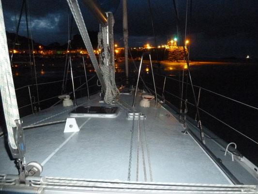 Nachtansicht Gorey Harbour