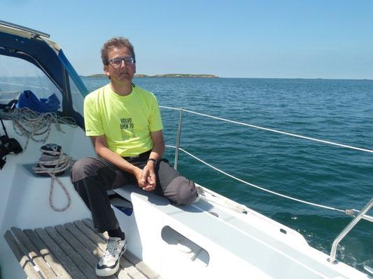 Skipper Andreas relaxt