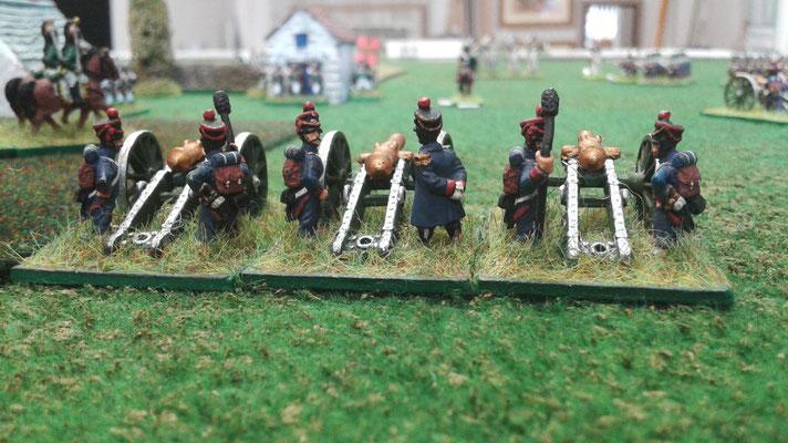 Posizione finale dell'artiglieria francese...