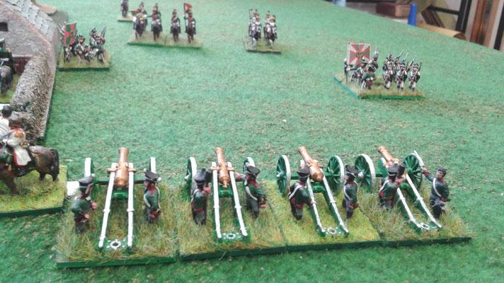 Posizione finale dell'artiglieria russa...
