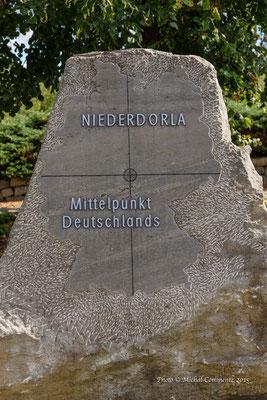Mittelpunkt Deutschlands, Unstrut-Harnich-Kreis, Niederdorla, Thüringen