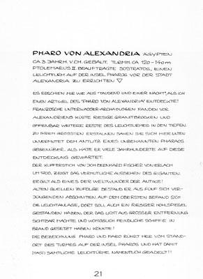 """Beschreibung """"PHARO VON ALEXANDRIA"""""""