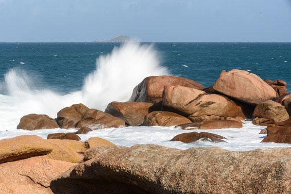 Bretagne, Cote Granite Rose, Frankreich, Ile Renote,