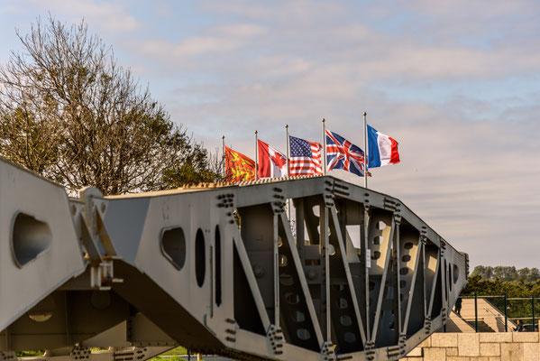 "Arromanches-les-Bains, D-Day 75 Garden, Frankreich, Gold Beach, Memorial Royal Enineers, Mulberry harbour ""B"", Normandie"