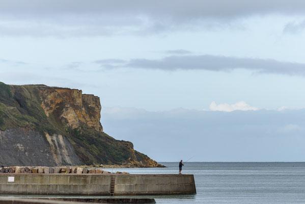 "Arromanches-les-Bains, Frankreich, Gold Beach, Landungsstrand, Mulberry harbour ""B"", Normandie"