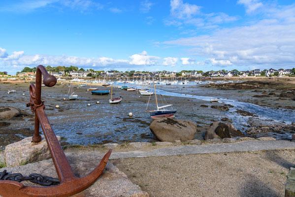 Bretagne, Cote Granite Rose, Frankreich, Hafen, Ploumanac´h