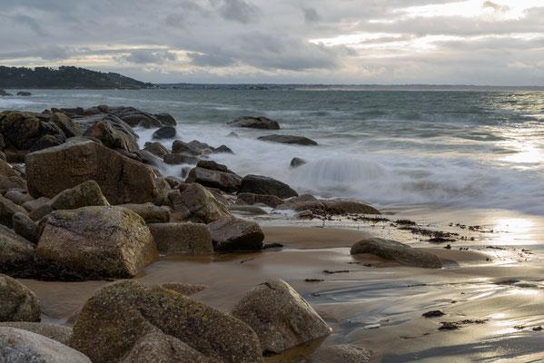 Bretagne, Frankreich, Lannion, Plage de Goas Lagorn,