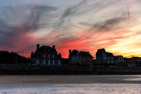 "Arromanches-les-Bains, Beach, Frankreich, Gold Beach, Landungsstrand, Mulberry harbour ""B"", Normandie"