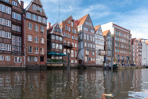 Mit die ältesten Gebäude in Hamburg am Nikolaifleet