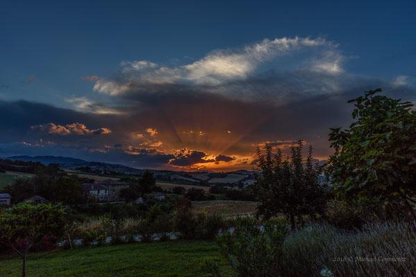 Sonnenuntergang in Rosora, Marken