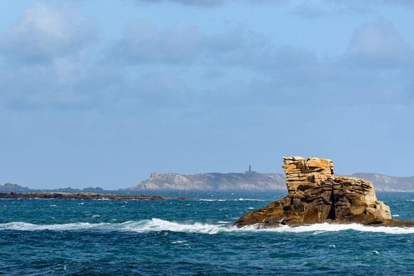 Bretagne, Frankreich, Ile Grande, Pointe de Castell Erek,
