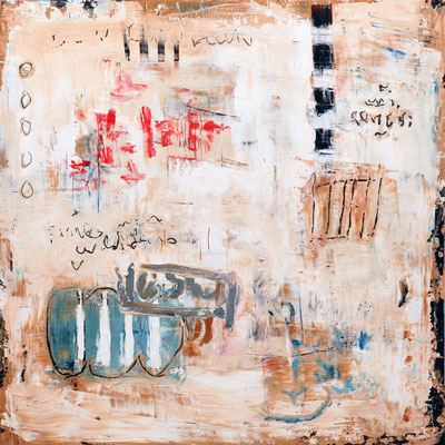 """Bill Fisher, """"Low Land,"""" 2013, oil and cold wax on panel, 30 x 30 inches, $7,000"""