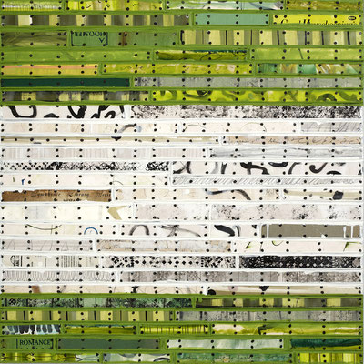 "Nancy Natale, ""All Good Intentions,"" mixed media on panel, 30 x 30 inches"