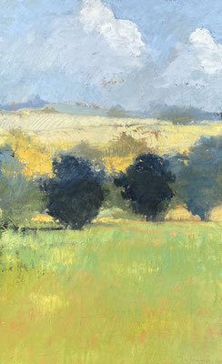 "Paul Balmer, ""Hope,"" 2020, oil on canvas, 30 x 18 inches, contact for price"