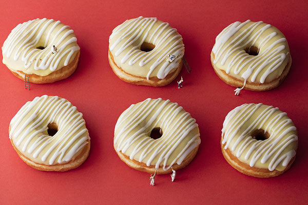 """Christopher Boffoli, """"Doughnut Icers,"""" acrylic-dibond mounted photograph, 24 x 36 inches (also available: 12 x 18, 32 x 48, 48 x 72)"""