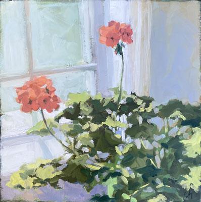 """Margaret Gerding, """"Spring Bloom,"""" 2020, oil on panel, 18 x 18 inches, $3,000"""