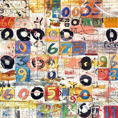 "Laura Wait, ""Summer  School,"" 2021, acrylic on Baltic Birch, 40 x 40 inches, $6,200"