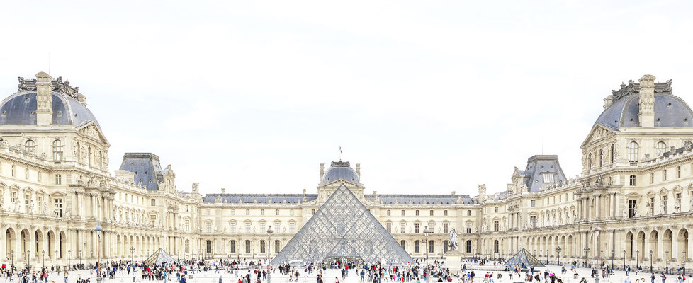 "Joshua Jensen-Nagle, ""The Louvre with You,"" archival inkjet print face-mounted to Plexiglass, 24 x 60"" (also available in 30 x 74; 36 x 88; 43 x 105)"
