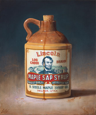 """Ben Steele, """"Maple Sap Syrup,"""" 2014, oil on canvas, 24 x 20 inches, $2,800"""