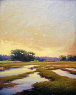 "Margaret Gerding, ""Evening Warmth,"" 2018, oil on canvas, 40 x 30 inches, $6,500"