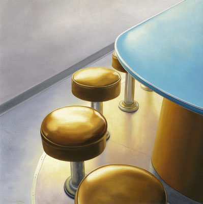 "Matt Condron, ""Fields Diner,"" 2012, oil on canvas on panel, 25 x 25 inches, $4,200"