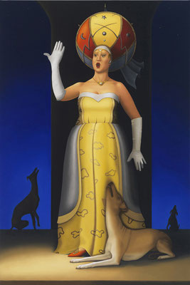 "Deborah Van Auten, ""Opera Singer,"" 2015, oil on linen, 36 x 24 inches, $14,800"