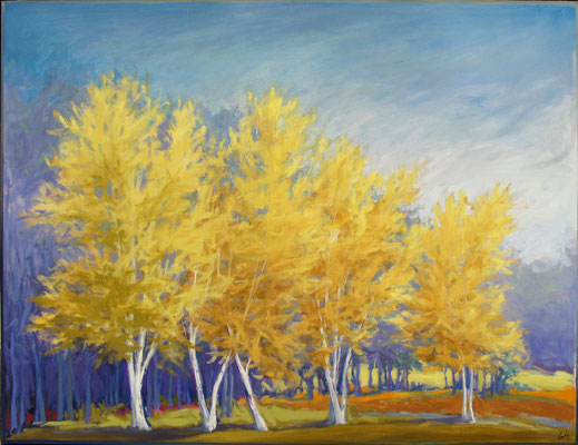 "Margaret Gerding, ""A New Season,"" 2015, oil on panel, 36 x 48 inches, $8,000"