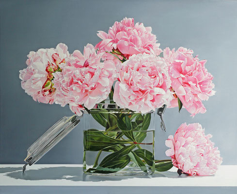 """Alexandra Averbach, """"Blush,"""" 2019, oil on canvas, 36 x 44 inches, SOLD"""
