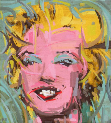 "Ben Steele, ""Cubist Marilyn,"" 2013, oil on canvas, 10 x 9 inches, SOLD"