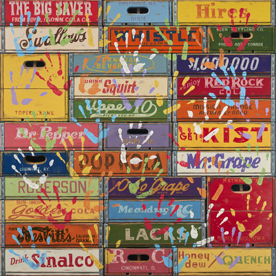 "Robert C. Jackson, ""Artist's Touch,"" 2020, oil on linen, 48 x 48 inches, $32,000"