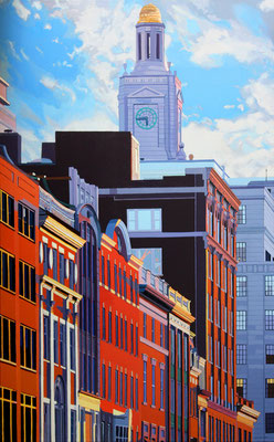 "Andrew Woodward, ""Newbury Colors,"" 2015, acrylic on canvas, 48 x 32 inches, $7,200"
