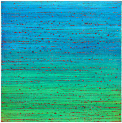 "Joanne Mattera, ""Silk Road 311,"" 2015, encaustic on panel, 12 x 12 inches, $2,400"