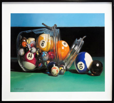 "Sheldon Berkowitz, ""Spherical Spill,"" pastel over watercolor on paper, 25 x 35 inches - SOLD"