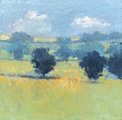 "Paul Balmer, ""Blue Sky,"" 2020, oil on canvas, 24 x 24 inches, contact for price"