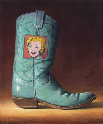 """Ben Steele, """"A Girl's Best Friend,"""" 2013, oil on canvas, 24 x 20 inches, $2,800"""
