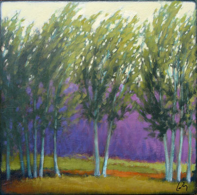 "Margaret Gerding, ""Spring Breeze,"" 2016, oil on panel, 16 x 16 inches, $2,500"